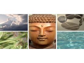Fotobehang Boeddha | Grijs | 250x104cm