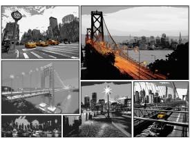 Fotobehang Vlies   New York   Zwart, Oranje   368x254cm (bxh)