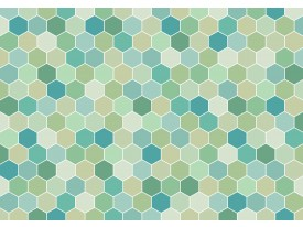 Fotobehang Vlies | Modern | Groen, Blauw | 368x254cm (bxh)