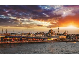Fotobehang Papier Stad | Oranje | 368x254cm