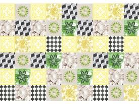 Fotobehang Vlies   Modern   Geel, Groen   368x254cm (bxh)