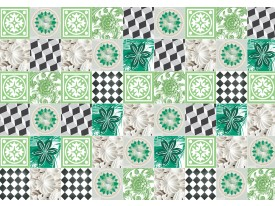 Fotobehang Vlies | Modern | Grijs, Groen | 368x254cm (bxh)