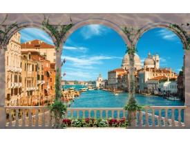 Fotobehang Stad, Venetië | Blauw | 208x146cm