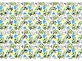 Fotobehang Vlies | Modern | Geel, Blauw | 368x254cm (bxh)