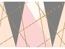 Fotobehang Vlies | Modern | Goud, Grijs | 368x254cm (bxh)