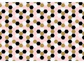 Fotobehang Vlies | Modern | Roze, Zwart | 368x254cm (bxh)