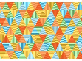 Fotobehang Vlies | Modern | Oranje, Groen | 368x254cm (bxh)