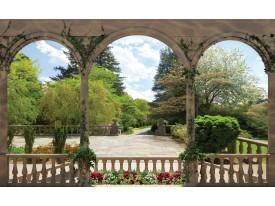 Fotobehang Vlies | Bomen | Groen, Grijs | 368x254cm (bxh)