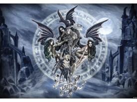 Fotobehang Vlies | Gothic | Grijs, Blauw | 368x254cm (bxh)