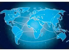 Fotobehang Vlies | Wereldkaart | Blauw, Wit | 368x254cm (bxh)