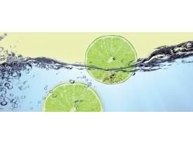 Fotobehang Keuken | Groen, Blauw | 250x104cm