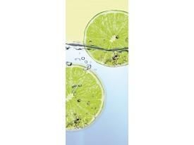 Deursticker Muursticker Keuken | Groen, Blauw | 91x211cm