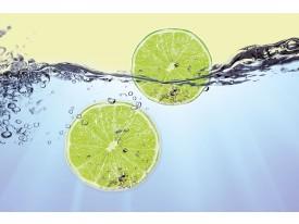 Fotobehang Keuken | Groen, Blauw | 208x146cm