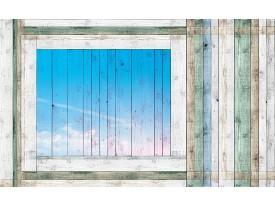 Fotobehang Vlies | Hout, Landelijk | Blauw | 368x254cm (bxh)
