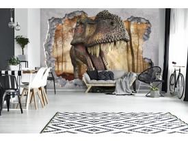 Fotobehang Vlies   Dinosaurus, 3D   Grijs   368x254cm (bxh)