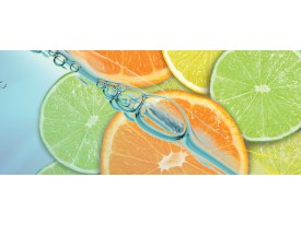 Fotobehang Fruit, Keuken | Oranje, Groen | 250x104cm