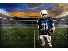 Fotobehang Vlies | Voetbal | Blauw, Groen | 368x254cm (bxh)