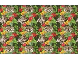 Fotobehang Jungle | Groen, Rood | 312x219cm