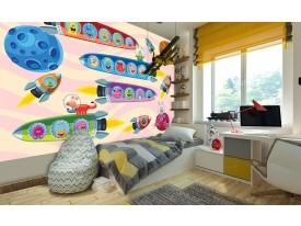Fotobehang Vlies | Ruimte | Blauw, Roze | 368x254cm (bxh)