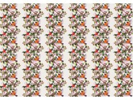 Fotobehang Vlies | Bloemen | Oranje, Roze | 368x254cm (bxh)