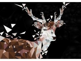 Fotobehang Vlies   Hert   Bruin, Zwart   368x254cm (bxh)