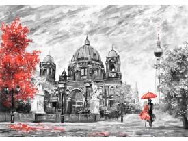 Fotobehang Vlies | Romantisch | Zwart, Rood | 368x254cm (bxh)