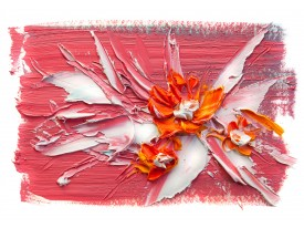 Fotobehang Vlies   Bloemen, Modern    Oranje   368x254cm (bxh)