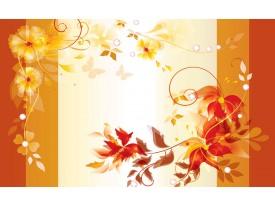 Fotobehang Papier Bloemen | Oranje, Geel | 254x184cm