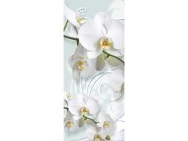 Deursticker Muursticker Orchidee, Bloemen | Wit | 91x211cm