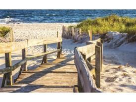 Fotobehang Strand | Geel | 416x254