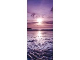 Deursticker Muursticker Zonsondergang | Paars | 91x211cm