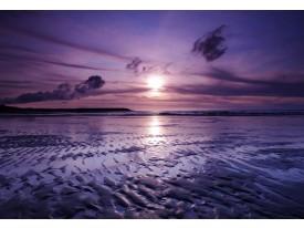 Fotobehang Strand, Zee | Paars | 416x254