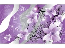 Fotobehang Vlies   Bloemen   Paars, Grijs   368x254cm (bxh)