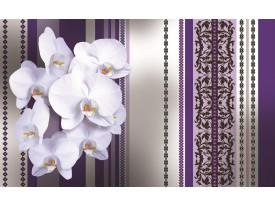 Fotobehang Vlies   Bloemen, Orchidee   Paars, Grijs   368x254cm (bxh)