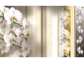 Fotobehang Vlies | Bloemen, Orchideeën | Geel | 368x254cm (bxh)