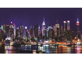 Fotobehang New York | Paars | 312x219cm