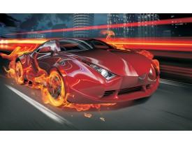 Fotobehang Auto | Rood, Oranje | 312x219cm