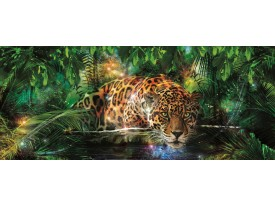 Fotobehang Jungle | Groen, Bruin | 250x104cm