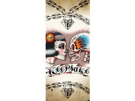 Deursticker Muursticker Alchemy, Gothic | Crème | 91x211cm