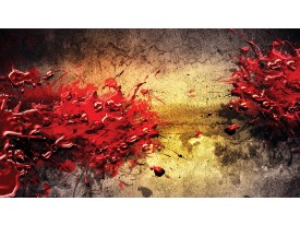 Fotobehang Abstract, Kunst | Rood | 152,5x104cm