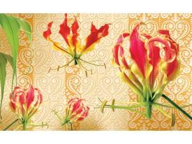 Fotobehang Bloemen | Rood, Oranje | 104x70,5cm