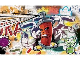Fotobehang Graffiti | Groen, Geel | 208x146cm