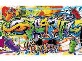 Fotobehang Graffiti, Street art | Groen | 152,5x104cm