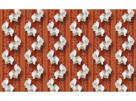 Fotobehang Vlies | Bloemen, Orchidee | Oranje | 368x254cm (bxh)