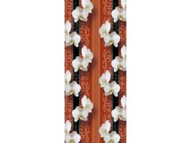 Deursticker Muursticker Orchidee, Bloemen | Oranje | 91x211cm