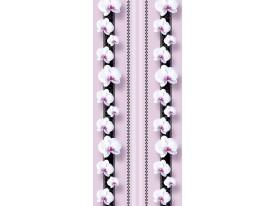 Deursticker Muursticker Orchidee, Bloemen | Paars | 91x211cm