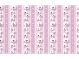 Fotobehang Bloemen, Orchidee   Roze   104x70,5cm
