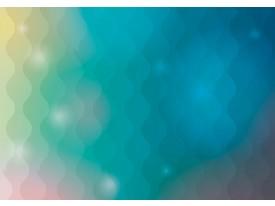 Fotobehang Abstract | Groen, Blauw | 104x70,5cm
