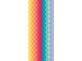 Deursticker Muursticker Modern | Geel, Roze | 91x211cm