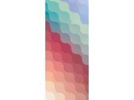 Deursticker Muursticker Modern | Groen, Rood | 91x211cm